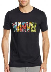 Comprar camisetas de hombre con el logo de Marvel, camisetas de hombres con el logo de marvel