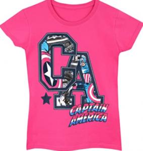 Camisetas en venta para niñas de los superhéroes de marvel