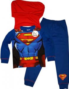 comprar pijamas superman con capa para toda la familia