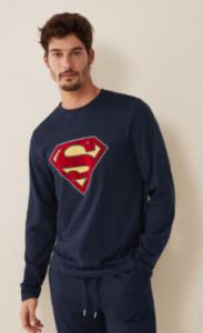 Pijama superman para adultos hombres y jóvenes adolescentes baratos