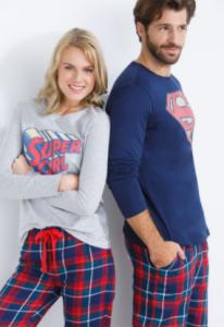 comprar pijamas superman para mujer al mejor precio, pijamas superheroes mujeres