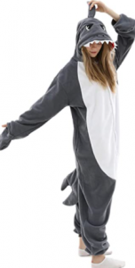 pijama para mujer con forma de tiburón, pijama entero de tiburón para mujer