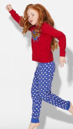 Pijama wonder woman para niñas