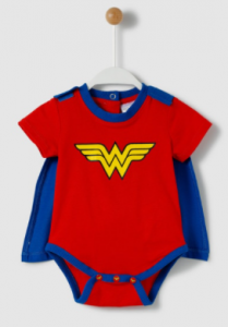 pijamas mujer maravilla para bebés