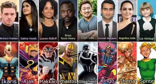 reparto de marvel eternos, el elenco de la película los eternos de marvel comics studio eternals, los eternals reparto, ethernals