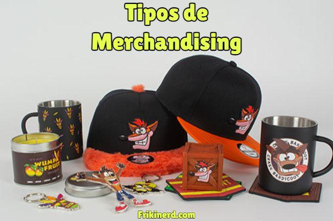 tipos de merchandising, clases de merchandising, todos los tipos de productos promocionales, productos licenciados con licencia oficial
