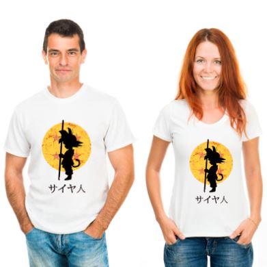 camisetas originales y divertidas para parejas dragon ball