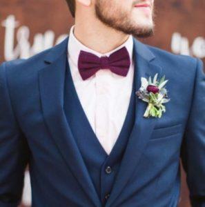pajarita traje azul marino boda matrimonio